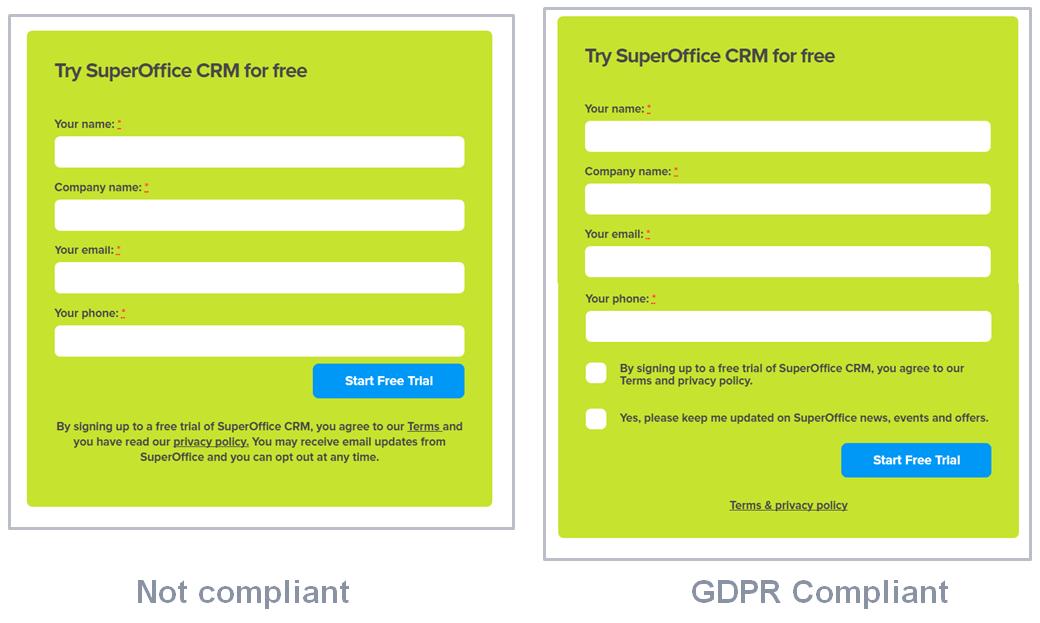 subscrição emailing gdpr