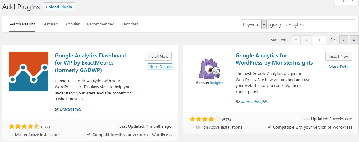 plugin wordpress google analytics